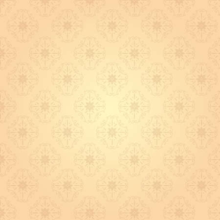 It is an illustration of a Damask pattern background Beige.