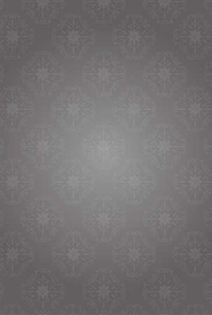 It is an illustration of a Damask pattern background Gray. Illustration