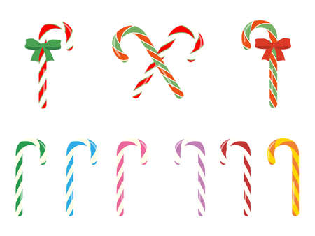 It is an illustration of a Candy cane variation set.