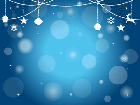 It is an illustration of a Christmas background Blue color.