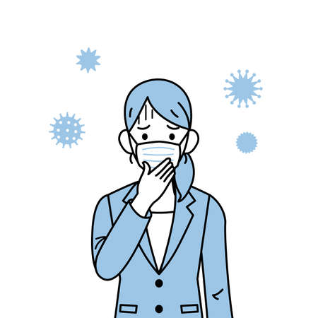 It is an illustration of a Woman having a cold. Ilustracje wektorowe