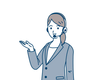 It is an illustration of a Woman operator.
