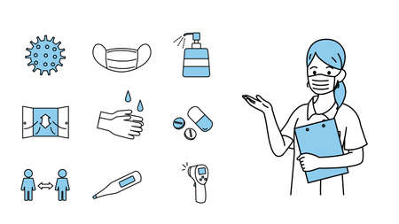 It is an illustration of a Infection control.