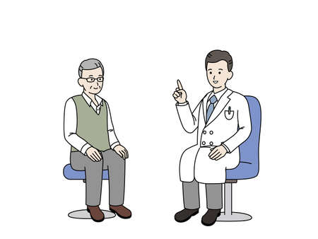 It is an illustration of a Medical examination.