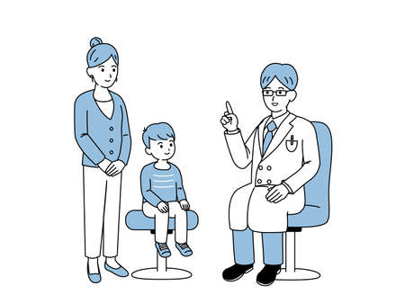It is an illustration of a Pediatrics doctor.