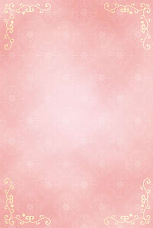 It is an illustration of a Damask pattern frame background.