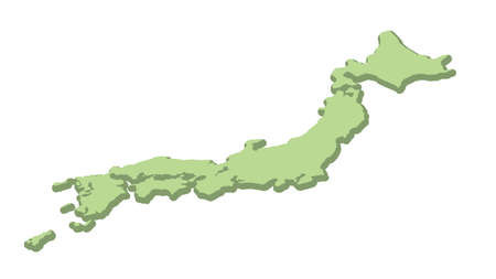 It is an illustration of a Map of Japan.