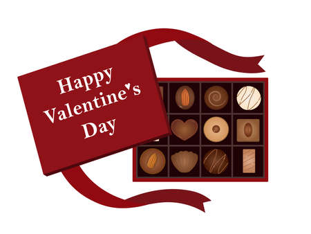 It is an illustration of a Valentine chocolate present.