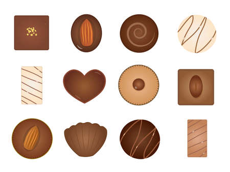 It is an illustration of a Chocolate variation set. Иллюстрация
