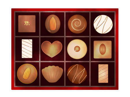 It is an illustration of a Chocolate variation set. 向量圖像
