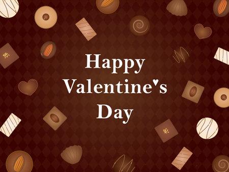It is an illustration of a Valentine card Chocolate design. Иллюстрация