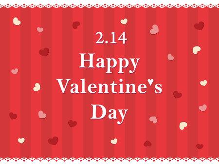 It is an illustration of a Valentine card design. Иллюстрация