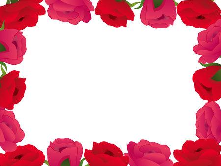 It is an illustration of a Rose flower frame. Иллюстрация