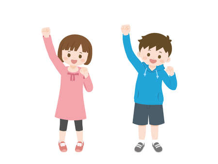 It is an illustration of Cheerful Kids.