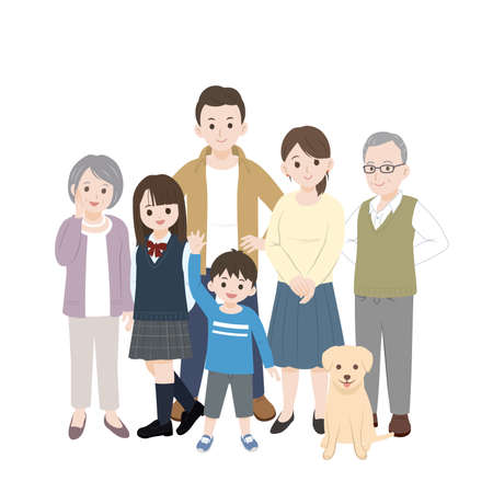 It is an illustration of a 3 generation family.