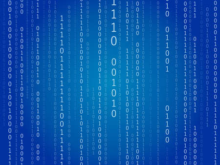 It is an illustration of a Binary code background.