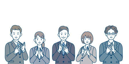 It is an illustration of a Business people giving applause.