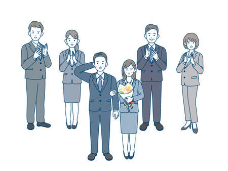 It is an illustration of married couple workers.