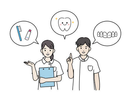 It is an illustration of a Dentist announce.