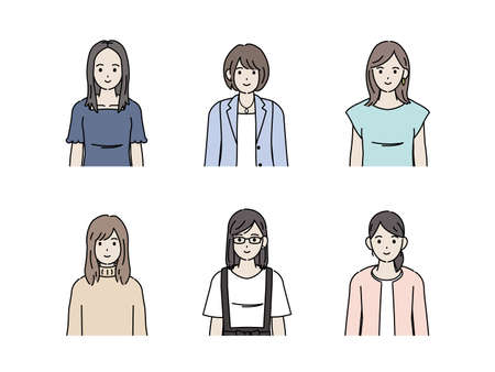 It is an illustration of a Young women.
