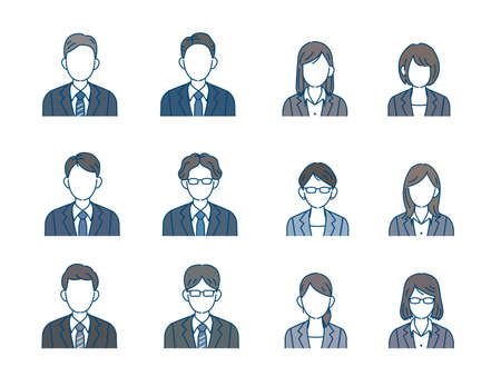 It is an illustration of a Business person icon set. Vector Illustration