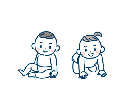 It is an illustration of a Twin baby girl and boy.