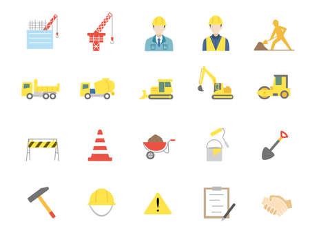 It is an illustration of a Construction icons. Ilustração