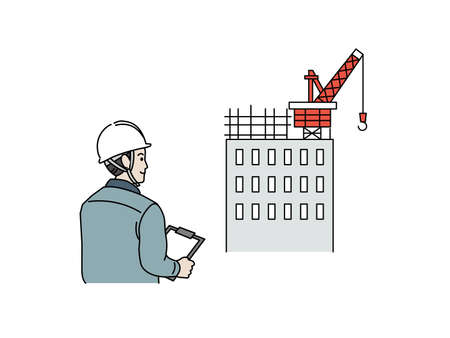 It is an illustration of a Site foreman construction.