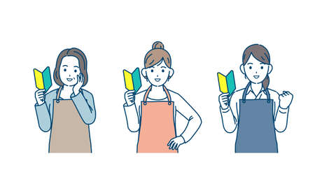 It is an illustration of a Housewife women beginner new challenge.