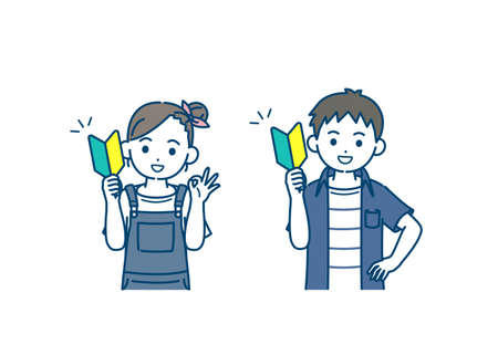 It is an illustration of a Boy and girl kid beginner challenge.