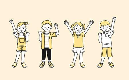 It is an illustration of a Boy and girl kids illustration. Ilustração