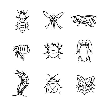 It is an illustration of a Insect pest character.
