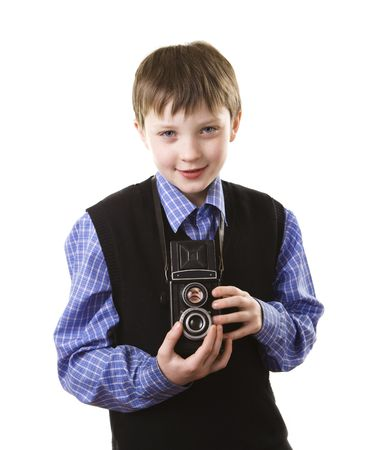 boy with a camera photo