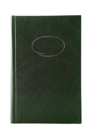 Old book cover with  ornament on with photo