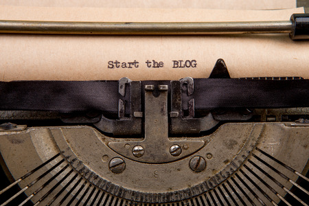 typed: Start the blog - typed words on a Vintage Typewriter