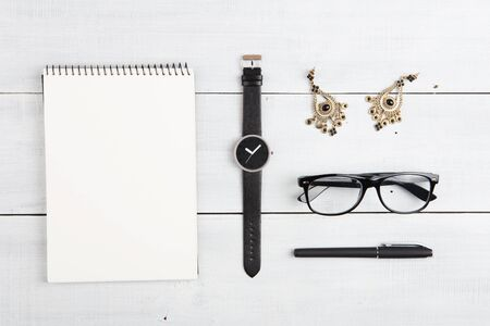 set of  notepad,watches, glasses,  earrings