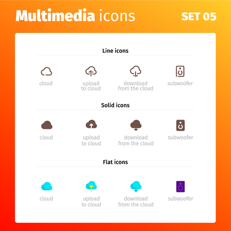Multimedia Control Icons for website and application