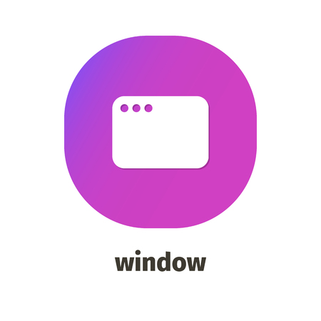 Window vector icon for web and mobile applications