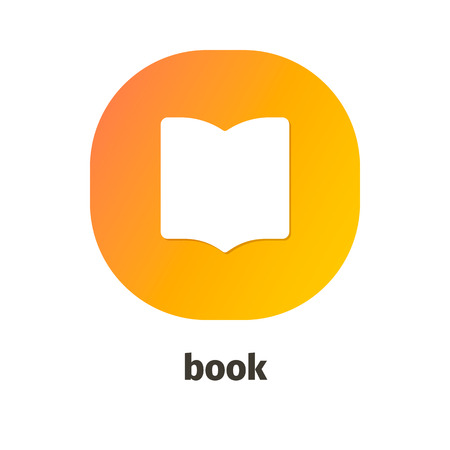 Book vector icon for web and mobile applications Ilustrace