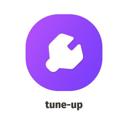 Tune-up vector icon for web and mobile applications Illustration