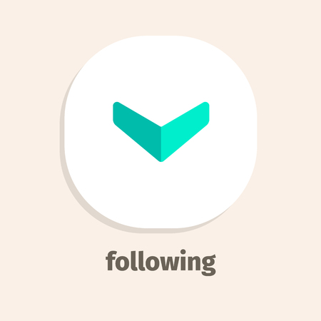 Following flat vector icon for web and mobile applications