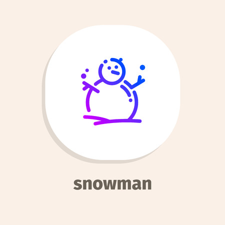 Snowman line vector illustrations icons for web and mobile applications