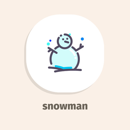 Snowman isometric vector illustrations icons for web and mobile applications