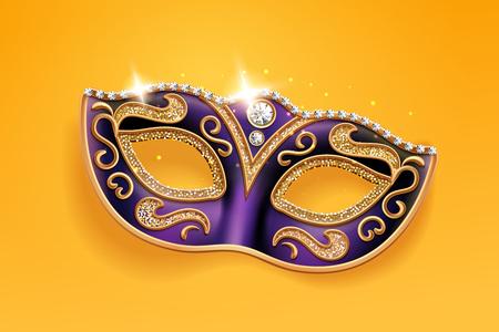 Brillantes diamantes en la máscara de carnaval. Funda facial Colombina para mascarada o fiesta de disfraces. Máscara de baile de hombre y mujer para teatro, festival de mardi gras o desfile de brasil. Tema de moda y vacaciones
