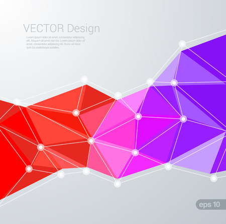 design vector: Polygon flat style colorful triangular vector background. Creative trendy design template. Polygonal backgrounds collection.