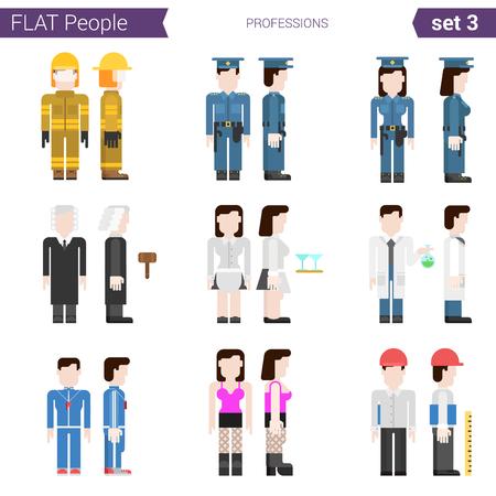 prostituta: Dise�o de estilo Flat vector icon gente profesional establecido. Profesiones bombero, polic�a mujer polic�a, juez, camarero, farmacia, prostitutas, entrenador, ingeniero. Personas colecci�n Flat.