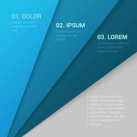enumeration: Stylish modern corporate blue background numbering enumeration report template mockup. Place your text and logo. Templates collection. Illustration