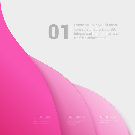enumeration: Stylish modern enumeration corporate multicolor background numbering report template mockup. Place your text and logo. Templates collection.