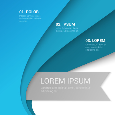 Stylish modern enumeration corporate blue background numbering report template table of contents mockup. Place your text and logo. Templates collection.
