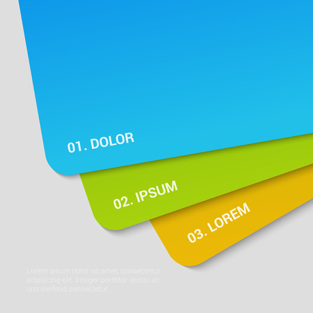 enumeration: Stylish modern bank credit business rounded cards enumeration corporate multicolor background numbering report template mockup. Place your text and logo. Templates collection.